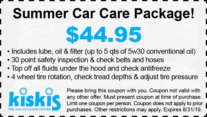 Kiskis Tire Latham NY - Summer Specials Car Car Package